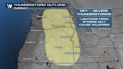 Pacific Northwest: Thunderstorms & Lightning Fire Risk