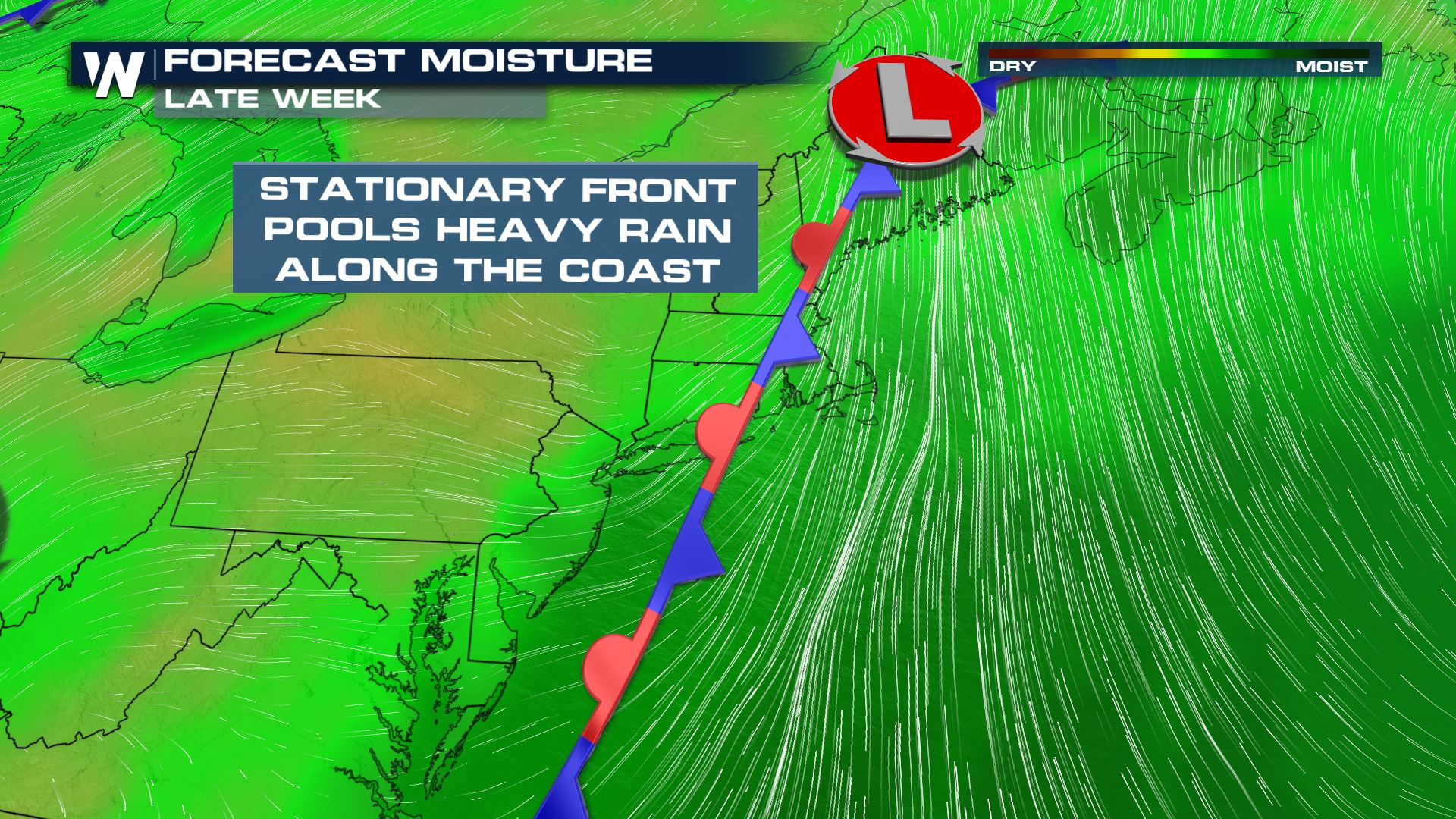 Flooding Possible in the Northeast