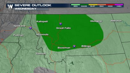 Severe Storms Possible in the Northwest
