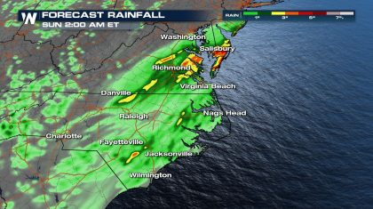 Flooding today for the Mid-Atlantic