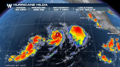 Active Storms in the Eastern Pacific, But Still Quiet in the Atlantic