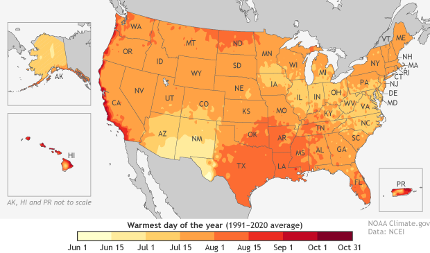 """If Things Go As """"Normal,"""" Most U.S. Locations Have Already Seen Their Hottest Day Of The Year"""