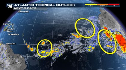 Tropical Update: Very Active in the Pacific and an Area to Watch in the Atlantic