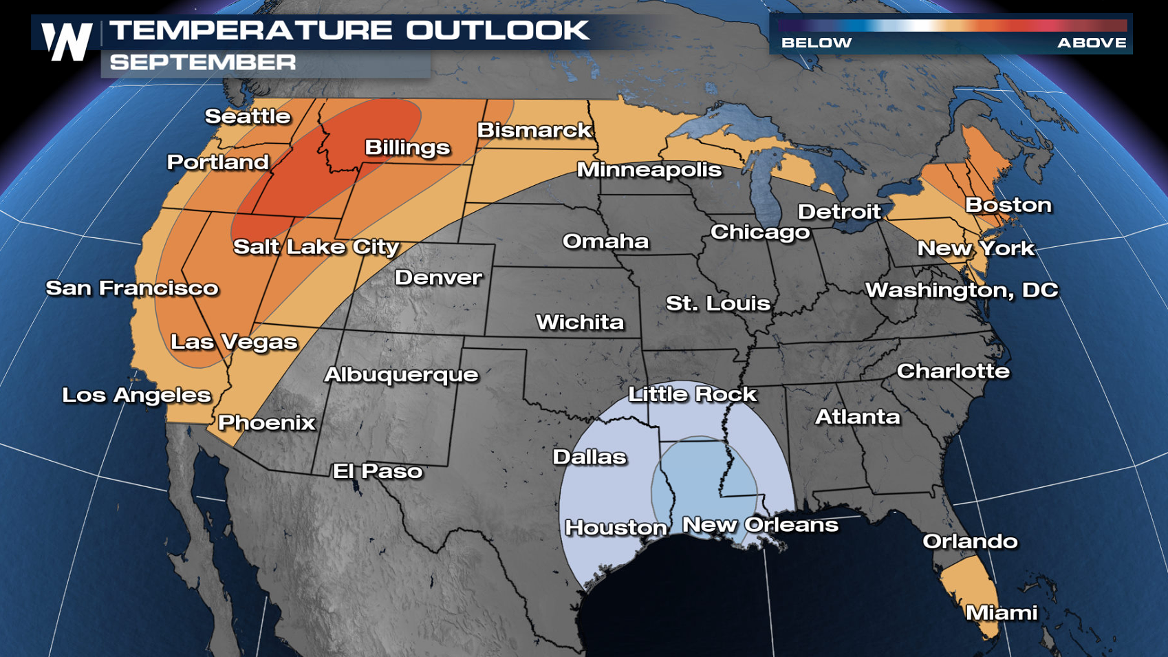 September Outlook from the Climate Prediction Center