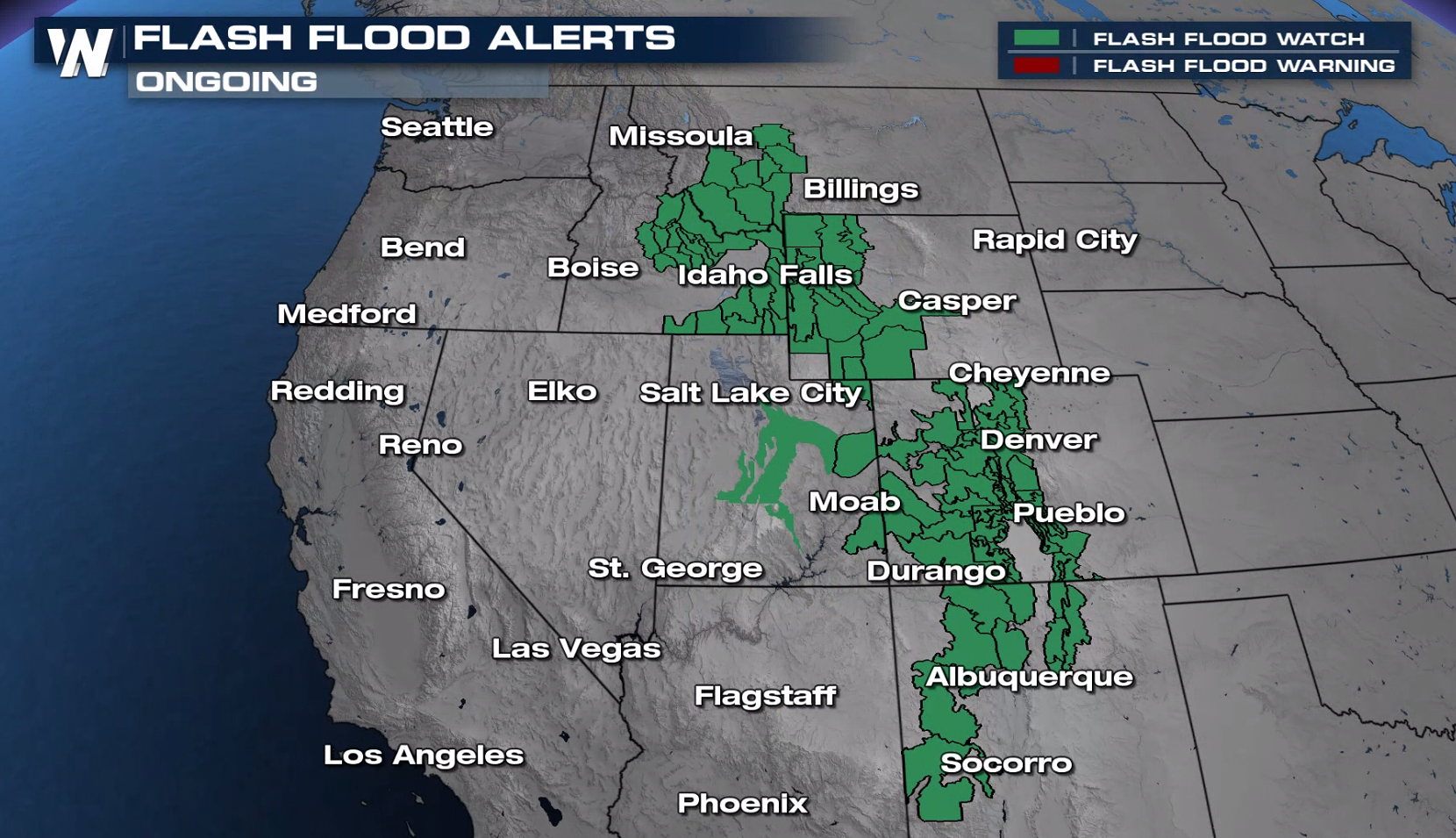 Monsoon Moisture Brings Pockets of Heavy Rain to the West