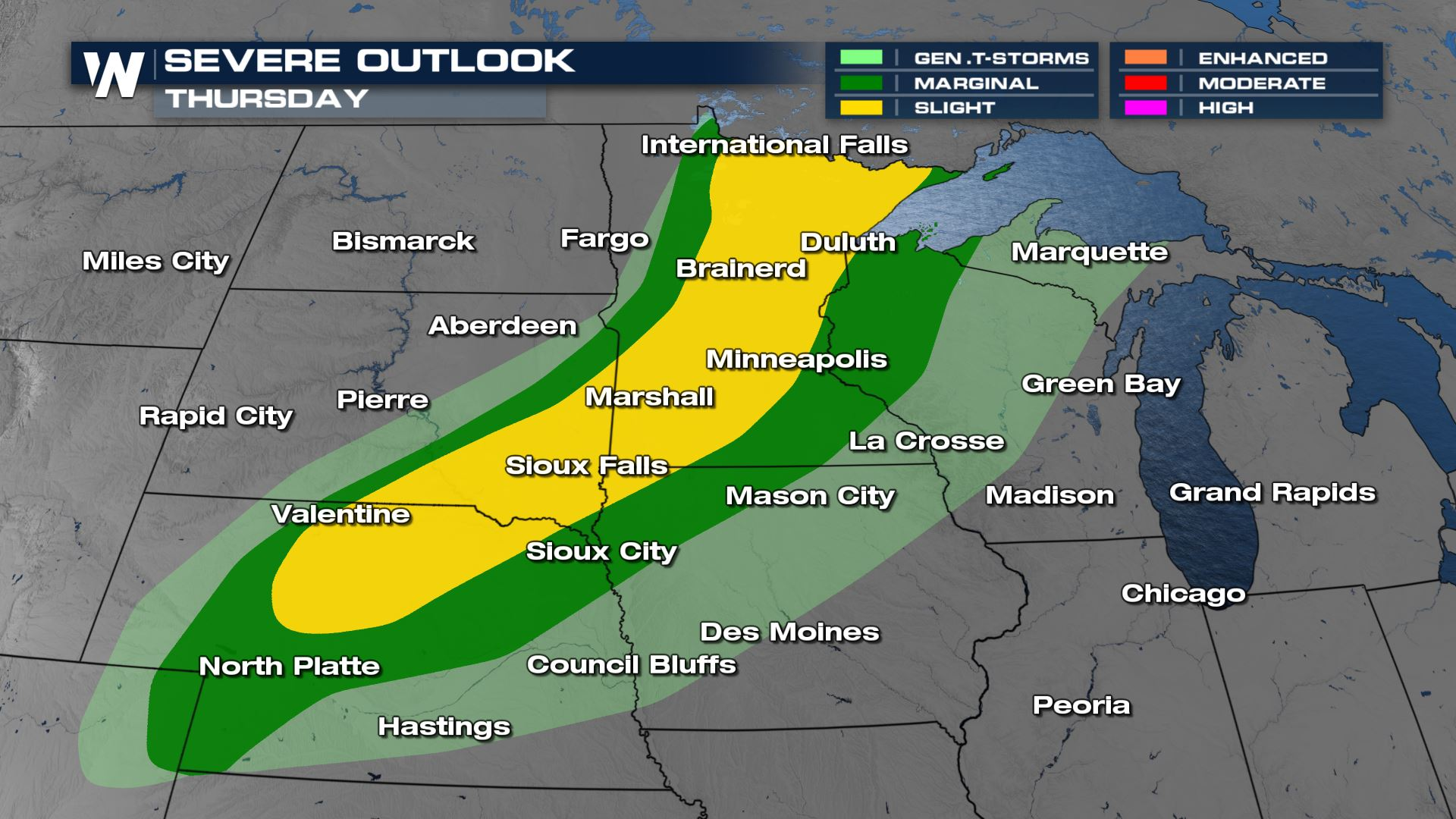 Severe Storms Continue Overnight For Upper Midwest