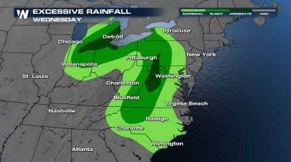 Cold Front Brings Flood Threat