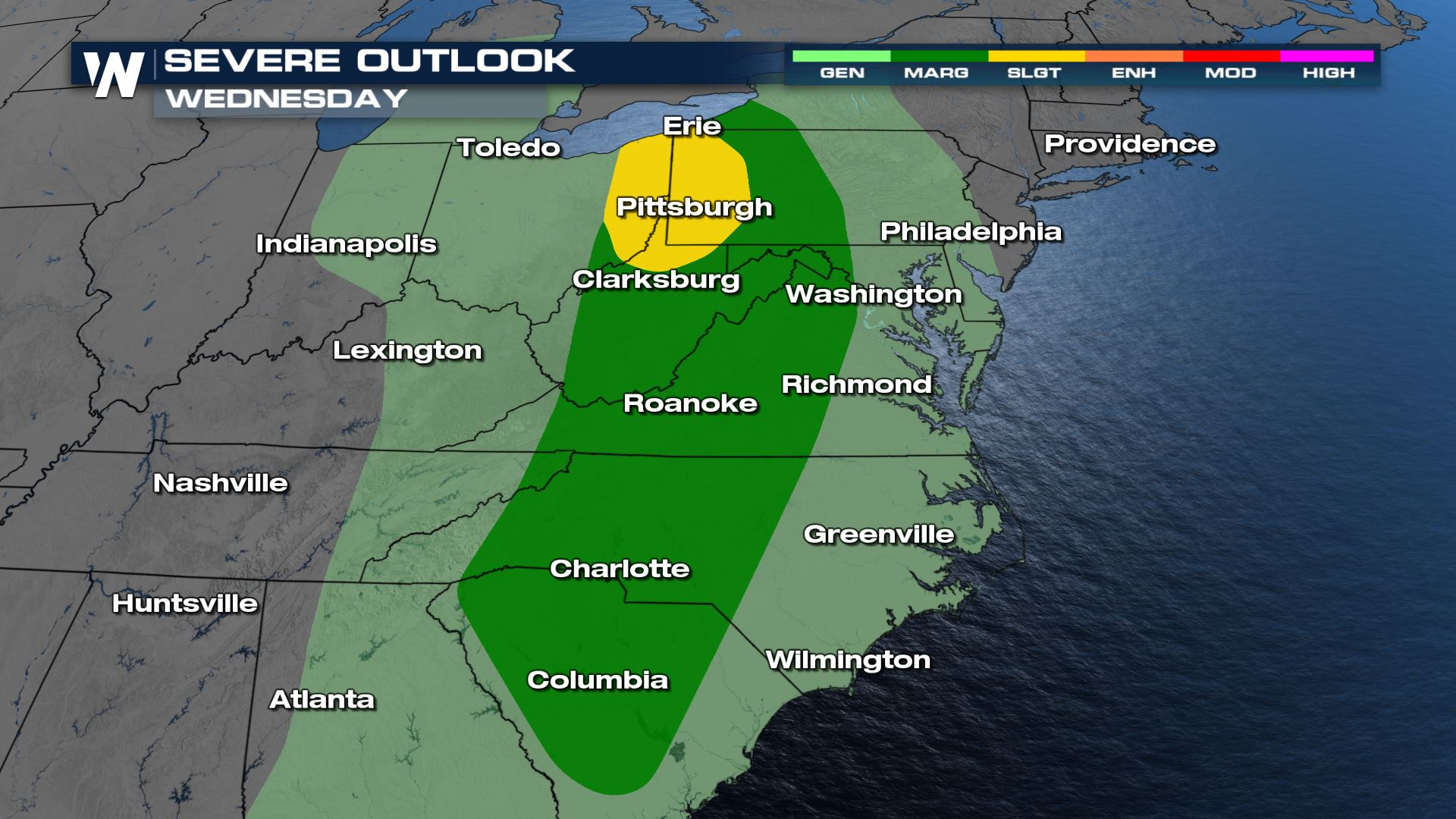 Severe Risk Increases Wednesday for the Ohio Valley