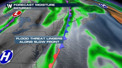 Stubborn Trough Continues Flooding Threat for Eastern U.S. Through the Weekend