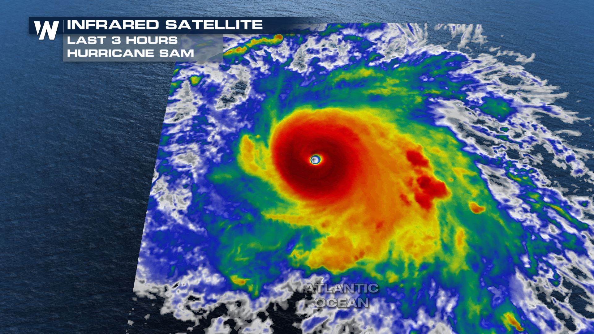 Sam Now a Powerful Category 4 Hurricane in the Atlantic