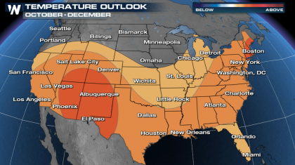 A Warm and Dry October through December Outlook