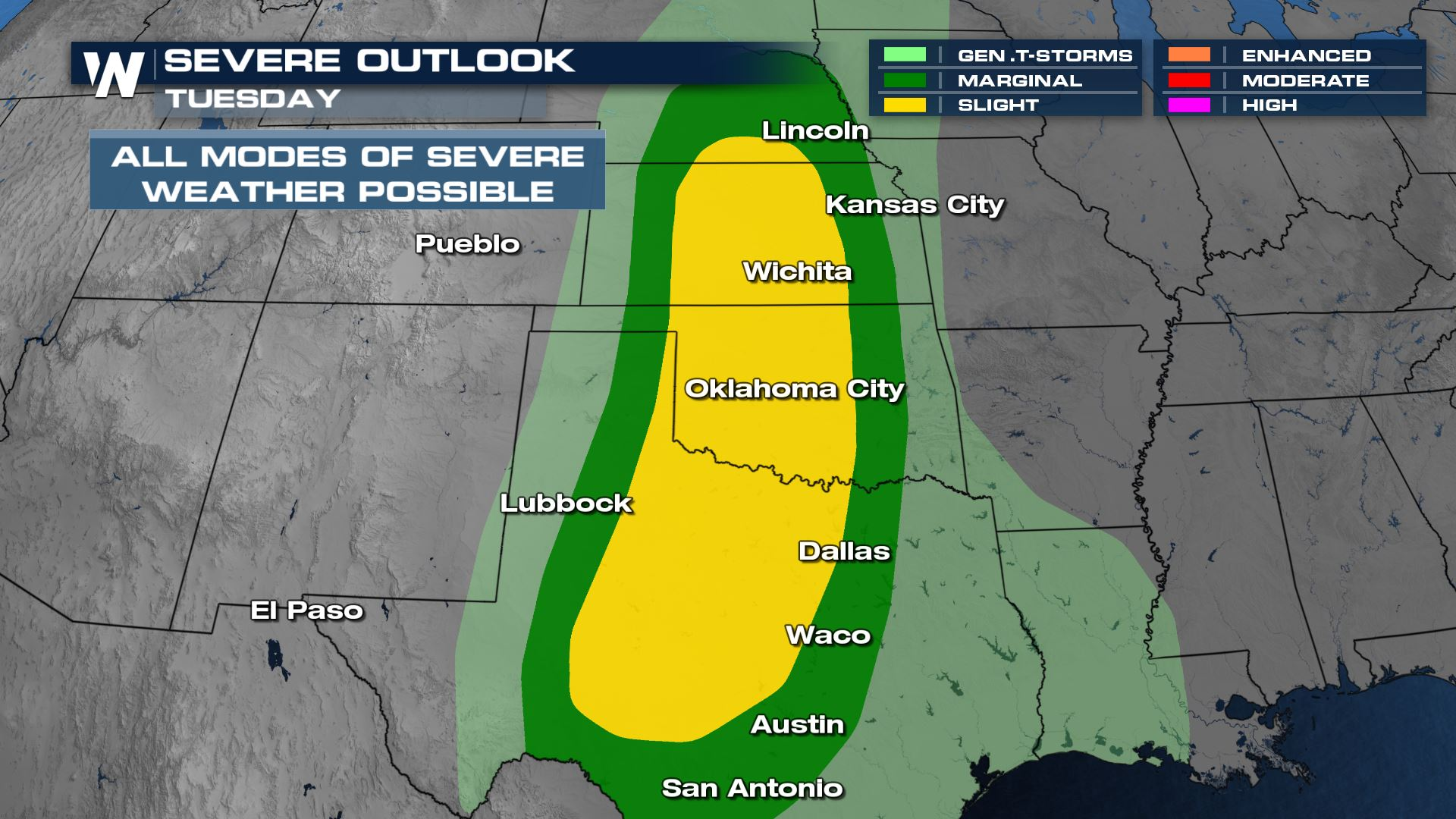 Severe Risk Increasing for the Plains Tuesday Wednesday