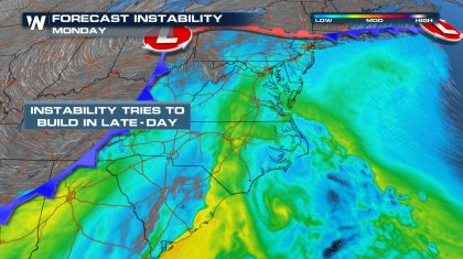 Severe Weather Impacts the East Coast Monday