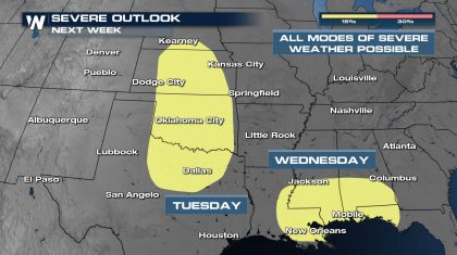 Multi-Day Severe Weather Threat This Week