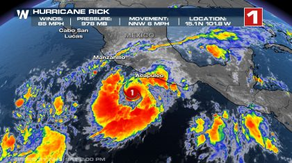 Hurricane Rick Sets Sights on Western Mexico