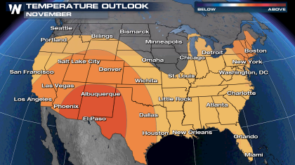 November Outlook Continues a Warm Trend