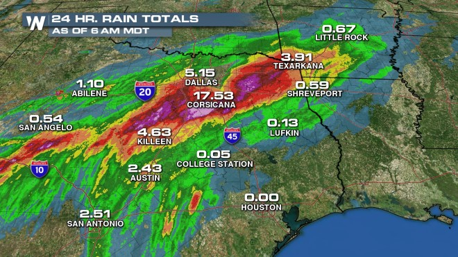 Southern Soaker Continues