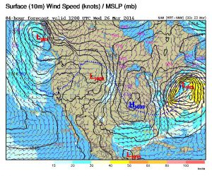 East Coast Storm Midweek; Challenges in Numerical Weather Prediction