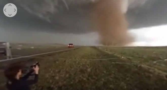 WATCH: Rare 360º View of Wray, CO Tornado
