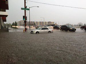 Denver Gets Soaked During Wednesday Evening Commute