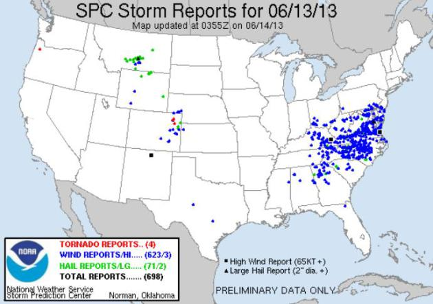 A Volatile Pattern (600+ reports of damaging straight-line winds; worst fire in Colorado history)