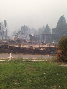 Wildfires burning path of destructio​n into central Washington