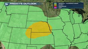 Severe Weather Possible in the Central Plains