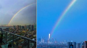 AMAZING IMAGES: Rainbow at World Trade Center Day Before Anniversary of 9/11 Attacks