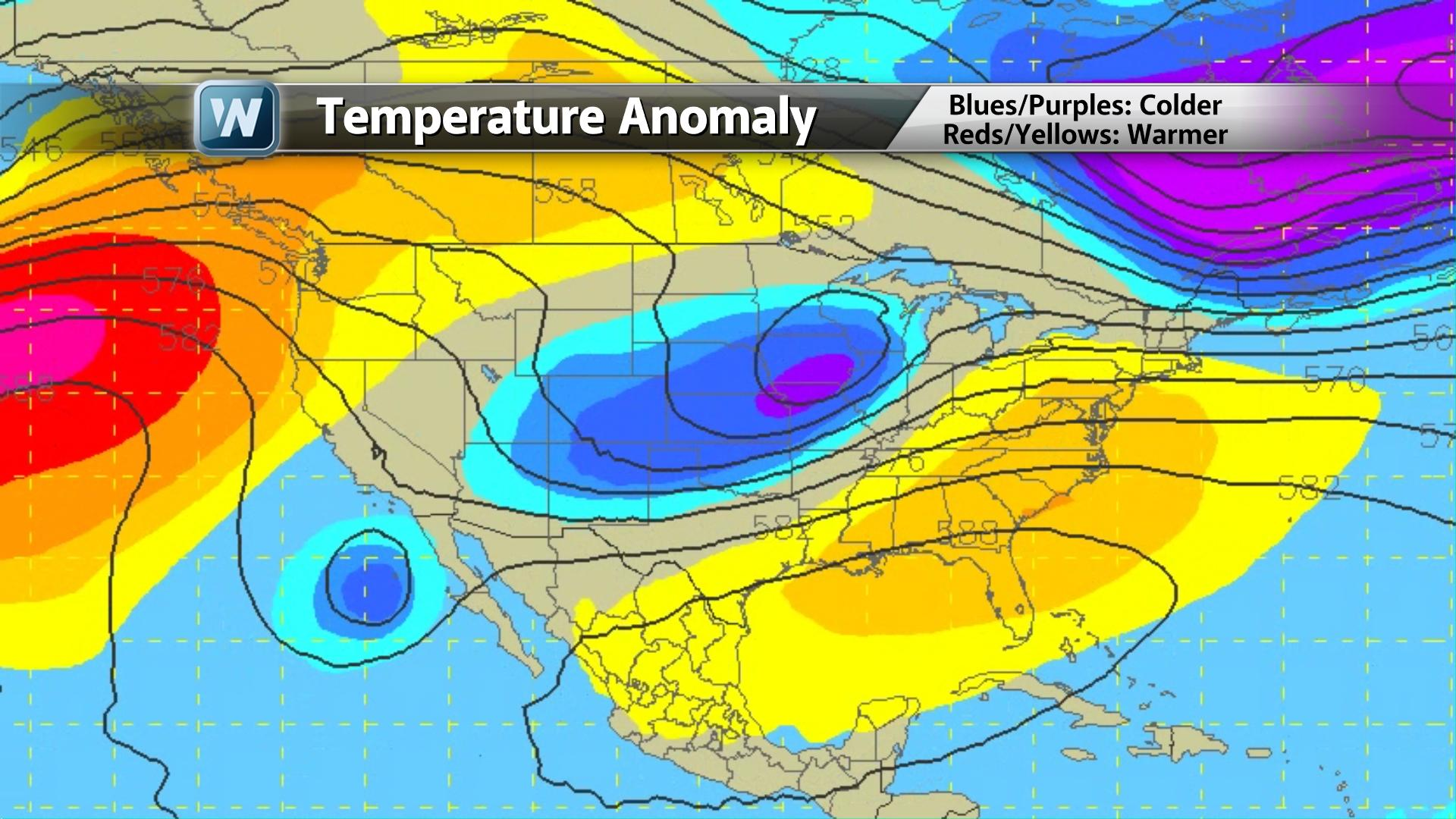 Temperature Anomaly Next Week