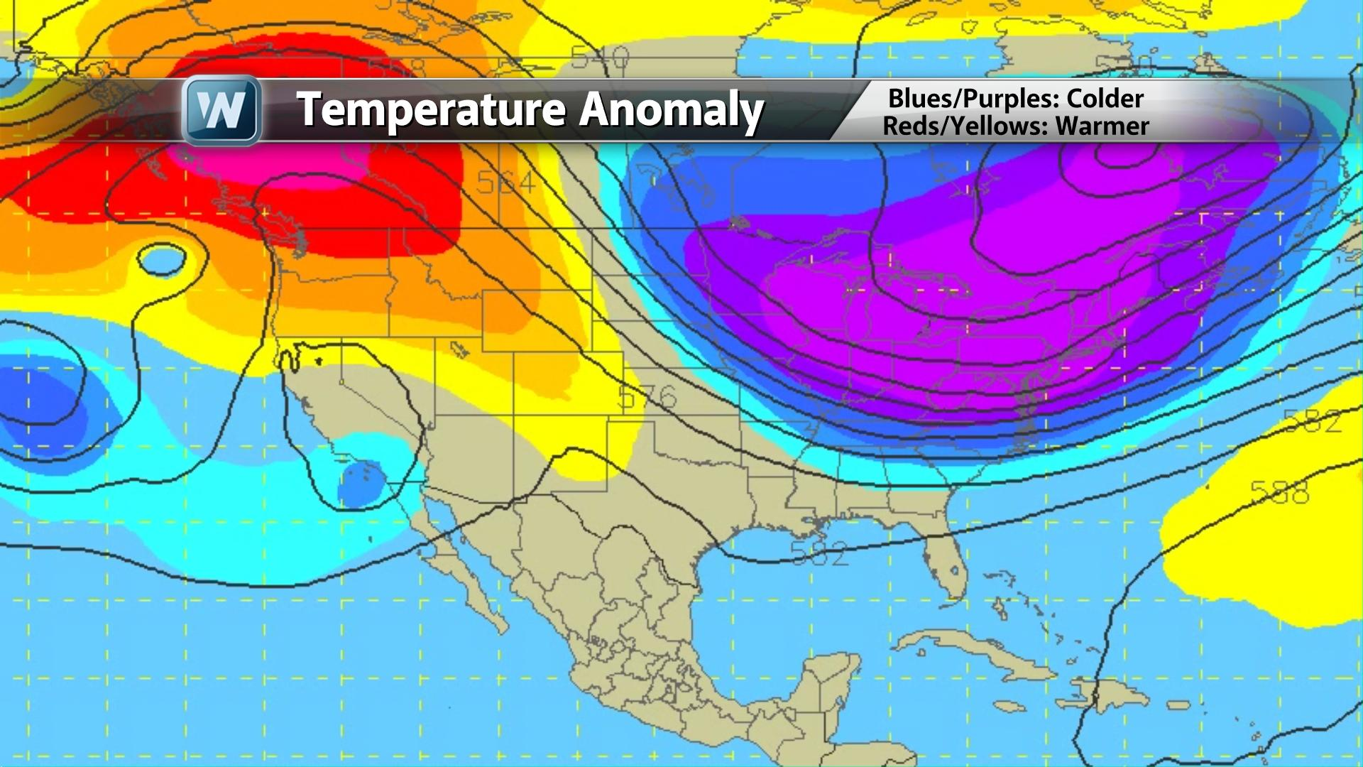 Temperature Anomaly Map