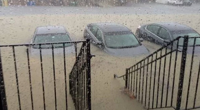Significant Flooding Near D.C. and Baltimore, Turns Airport Parking Lot into a Pond