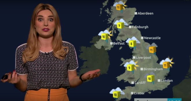 UK Weather Girl Slams 20 Batman V Superman Puns Into 60-Second Forecast