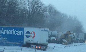 Massive Pileups Hit I-70 & I-74  in Indiana
