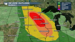 Moderate Risk for Severe Storms Today