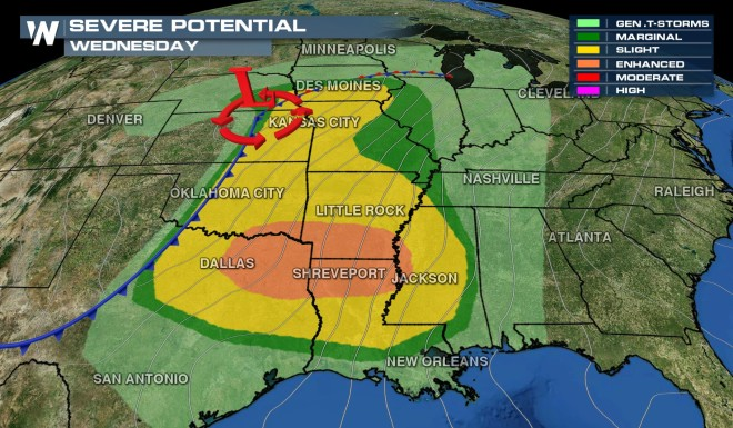 Severe Storms Firing Up – Bullseye Set on South Grasping up to Midwest
