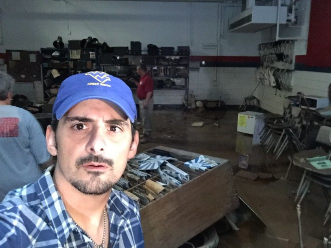 Brad Paisley Steps up to Help West Virginia Flood Victims