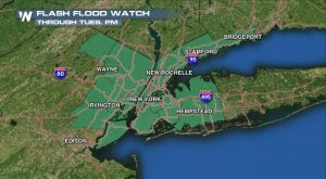 Flash Flood Watch For New York City Area Into Tuesday