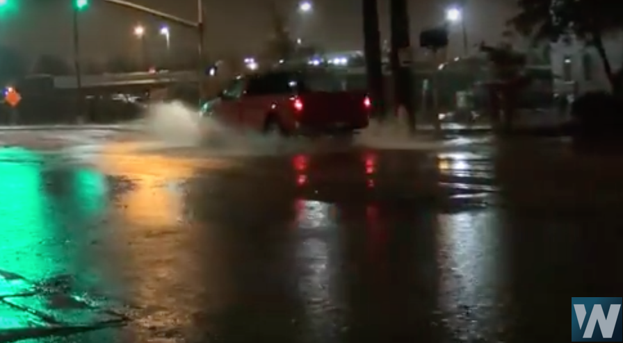 Norman Oklahoma Streets Flood after Severe Storms