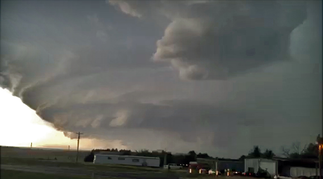 Flooding Rains, Hail and Winds – Storm Cell Time Lapse and Damage