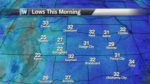 Frosty Start Across Parts Of The Central Plains and South