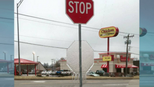 Melting Ice + Street Signs = Awesome