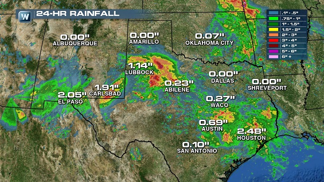 Flooding Threat Shifts East, Texas and New Mexico Brace for Heavy Rain