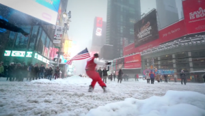 WATCH: Snowboarding Through the Snowy Streets of New York City