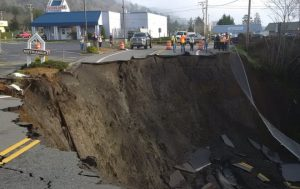 WATCH: Massive Sinkhole Closes Oregon Highway