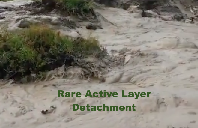 WATCH: Rare Active Layer Detachment Witnessed in Denali National Park