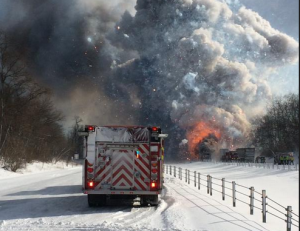 Huge Multi-Vehicle Pileup Reported on I-94 in Michigan, Semi Carrying Hazardous Materials Forces Evacuations