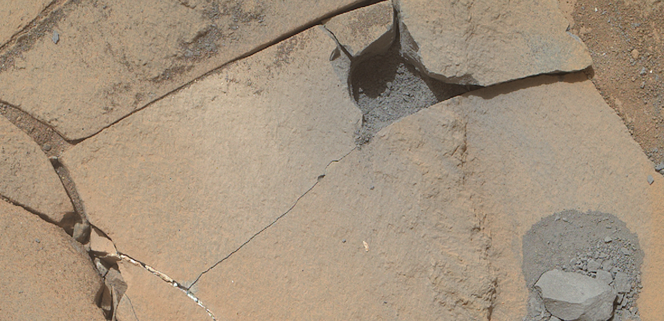 NASA Mars Rover, Curiosity, Doesn't Kick Rocks; It Smashes Them