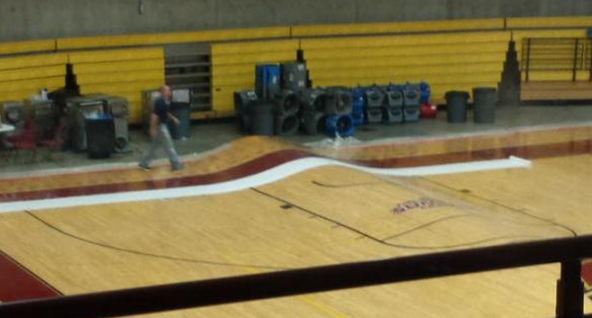 Flooding Rips Up Basketball Court in Colorado