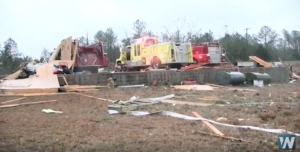VIDEO: Tornado Rips Apart Alabama Firehouse