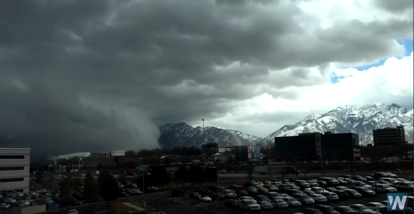 WATCH: Strong Cold Front Powering Through Salt Lake Valley